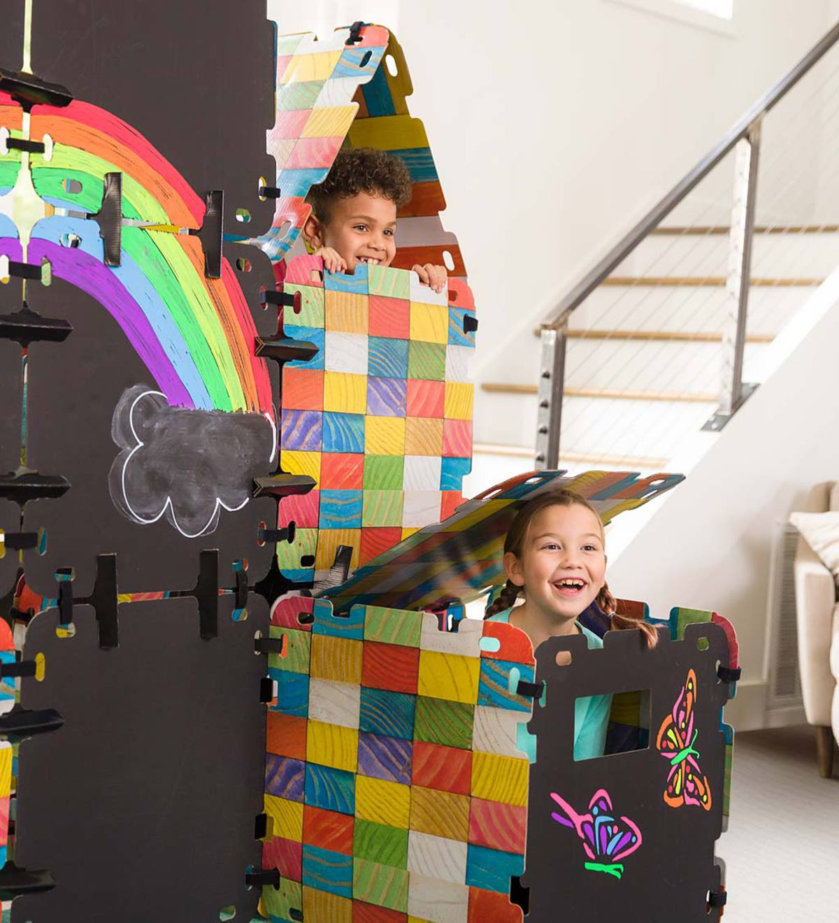 16-Piece Chalkboard Build-A-Fort Kit