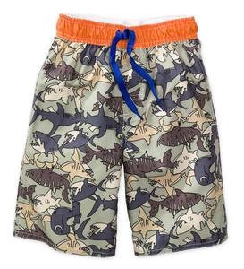 Camo Shark Swim Trunks