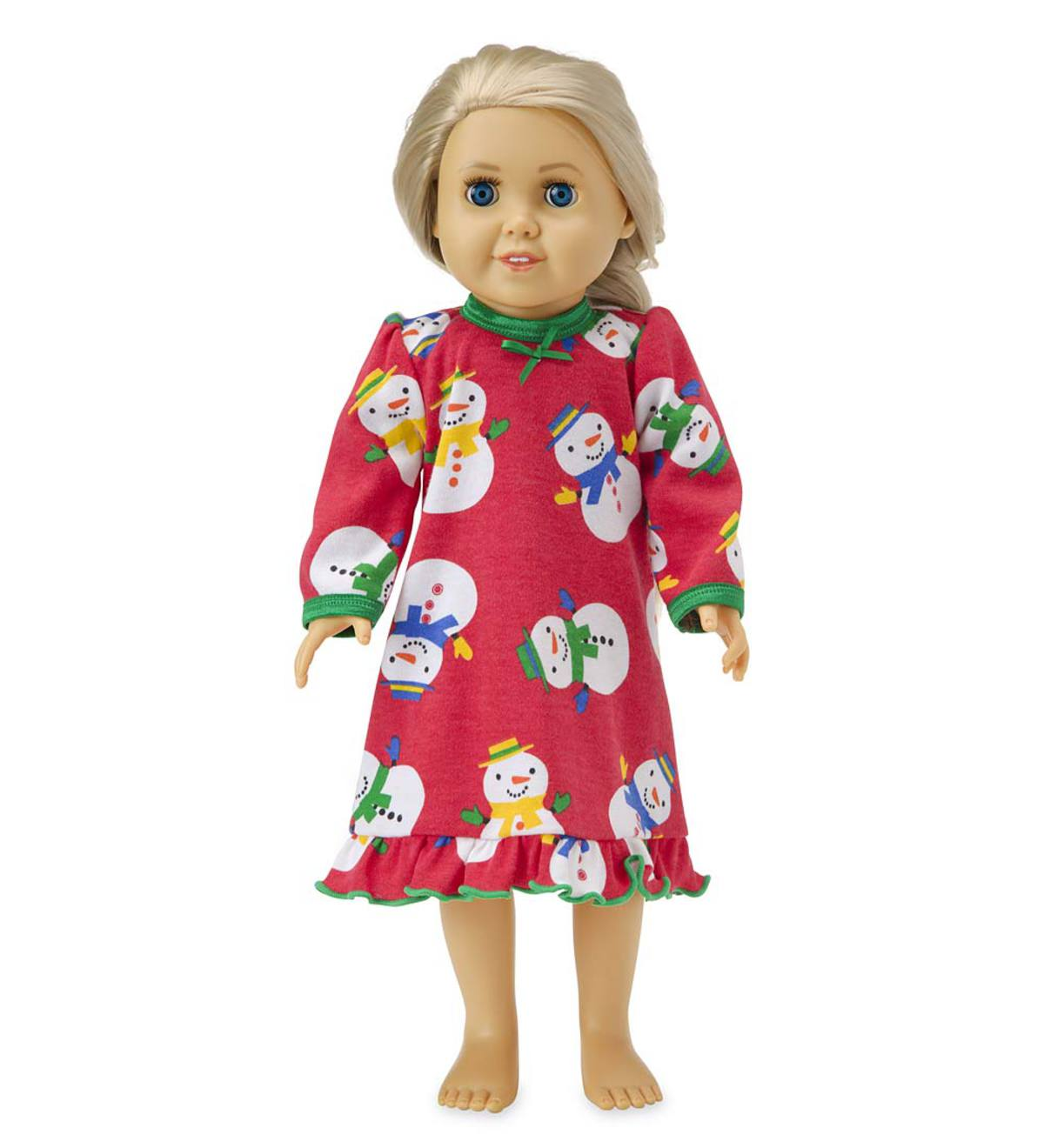 Snowman Doll Gown - Red - 1