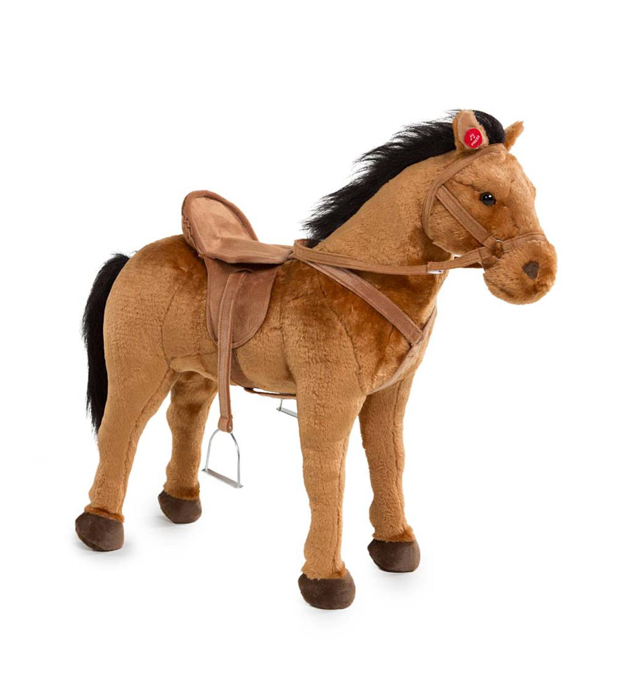 Sit-On Horse with Sound - Brown