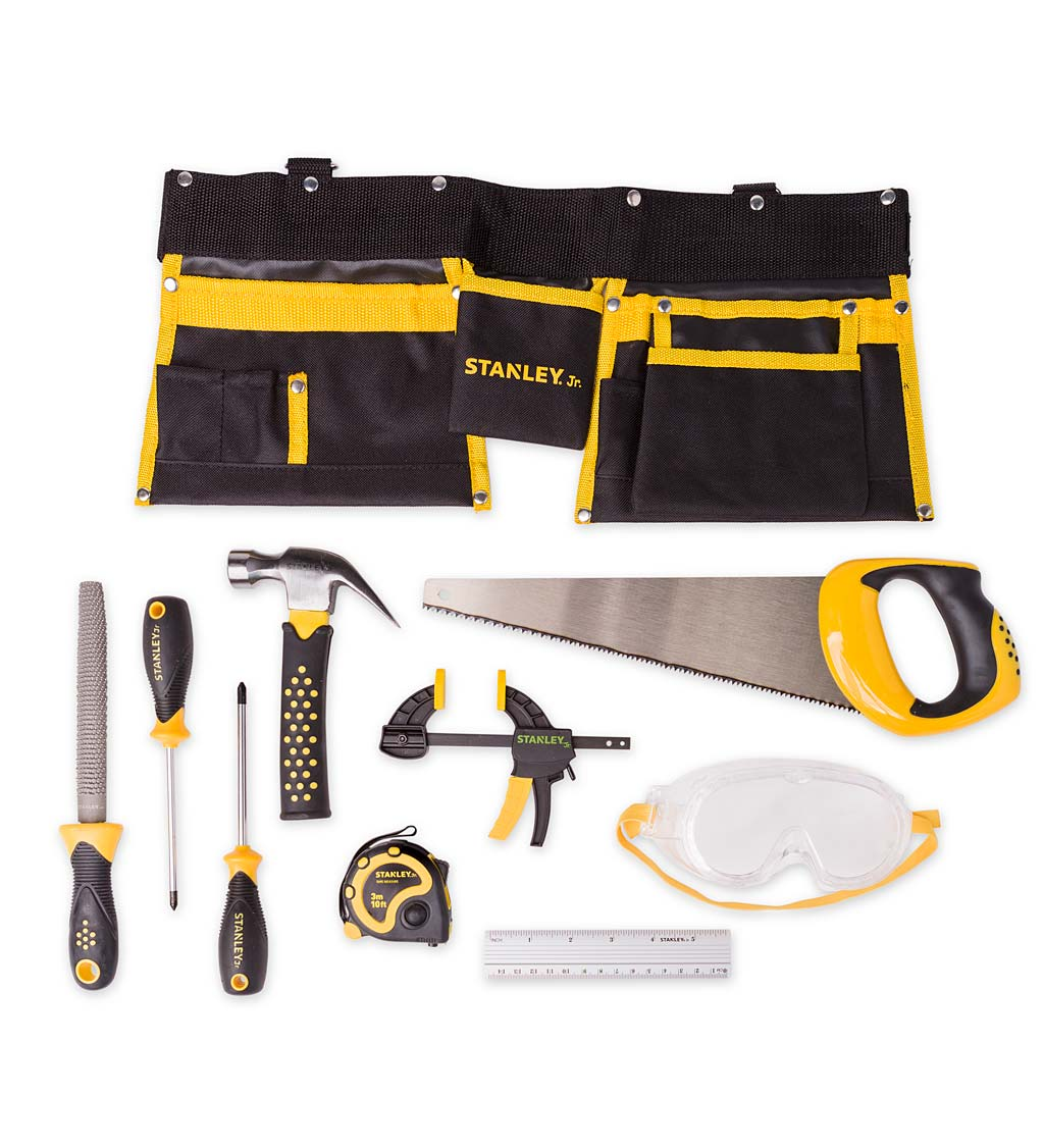 Stanley Jr. Tool Belt and 10-Piece Tool Set