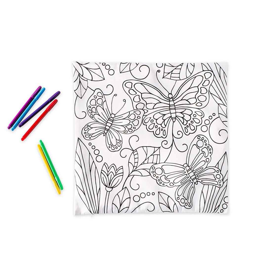 Color Pops Color-Your-Own Pillow Kit
