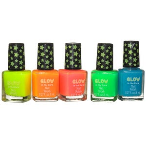 Glow-in-the-Dark Nail Polish (set of 5)