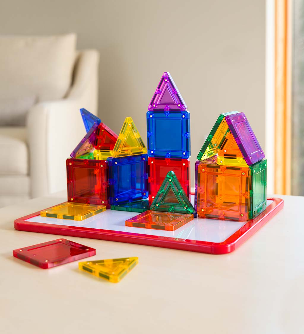 Magformers Rainbow Clear Magnetic Building Set