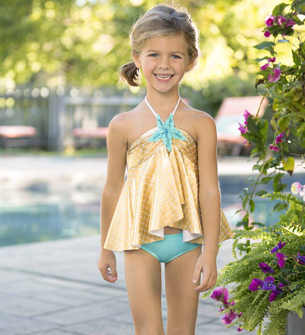 Starfish High Low Tankini - Multi - 2T