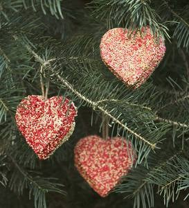 Valentine Birdseed Ornaments