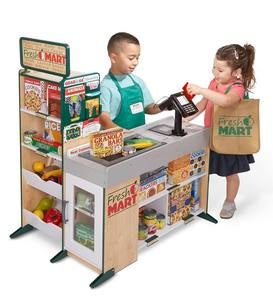 Fresh Mart Pretend Play Wooden Grocery Store