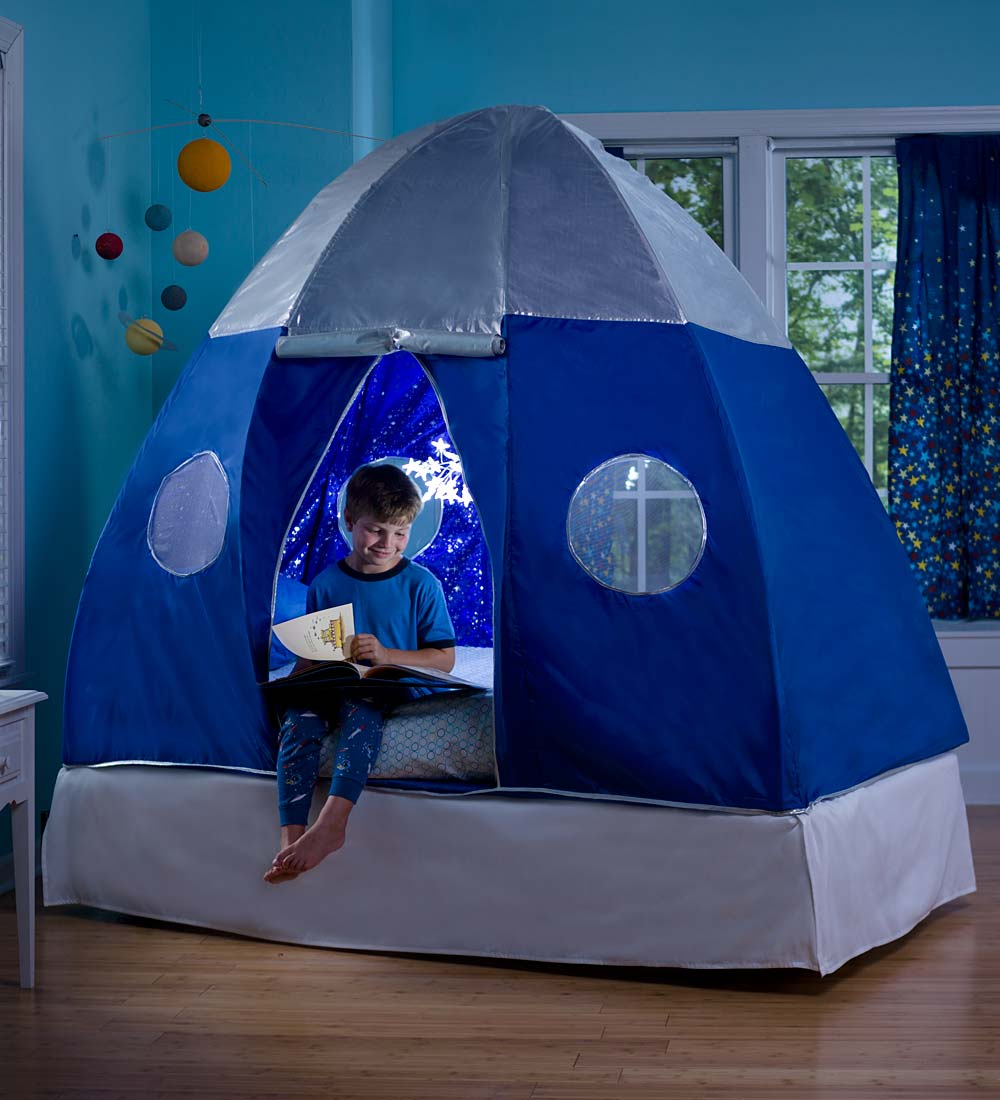 Galactic Bed Tent With Starburst LED Light