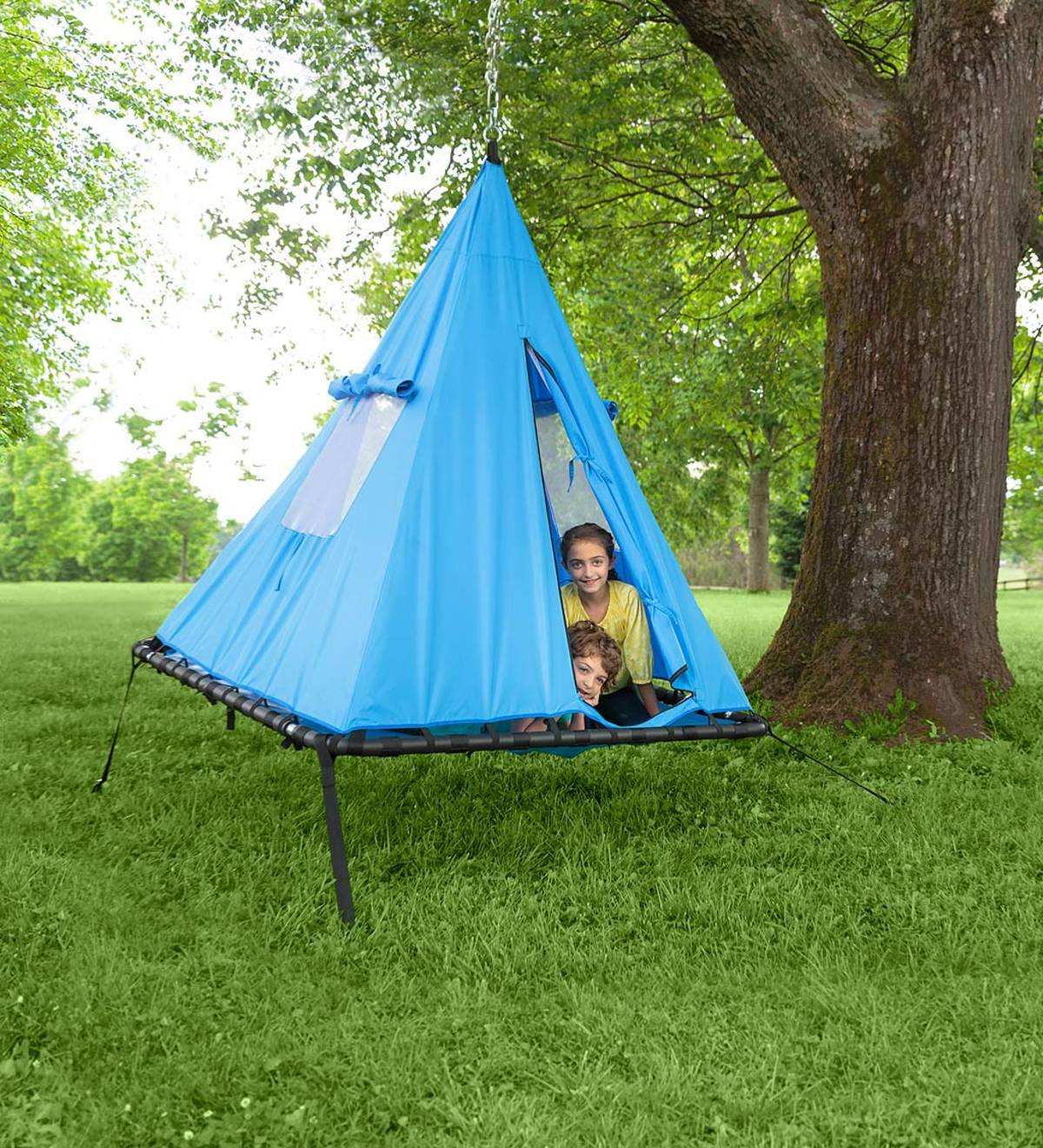 Hanging Sky Tent Swing - Blue