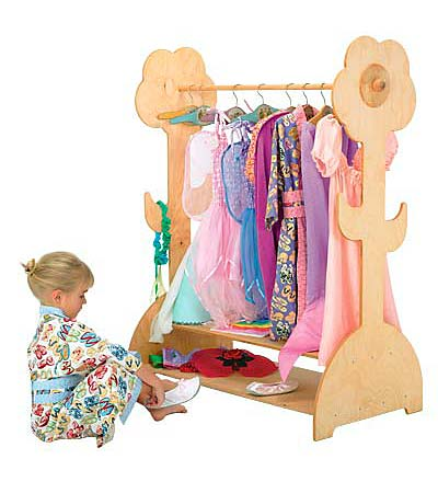 Child's Wooden Clothing Rack