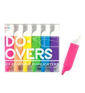 Do-Overs Erasable Highlighters (set of 6)