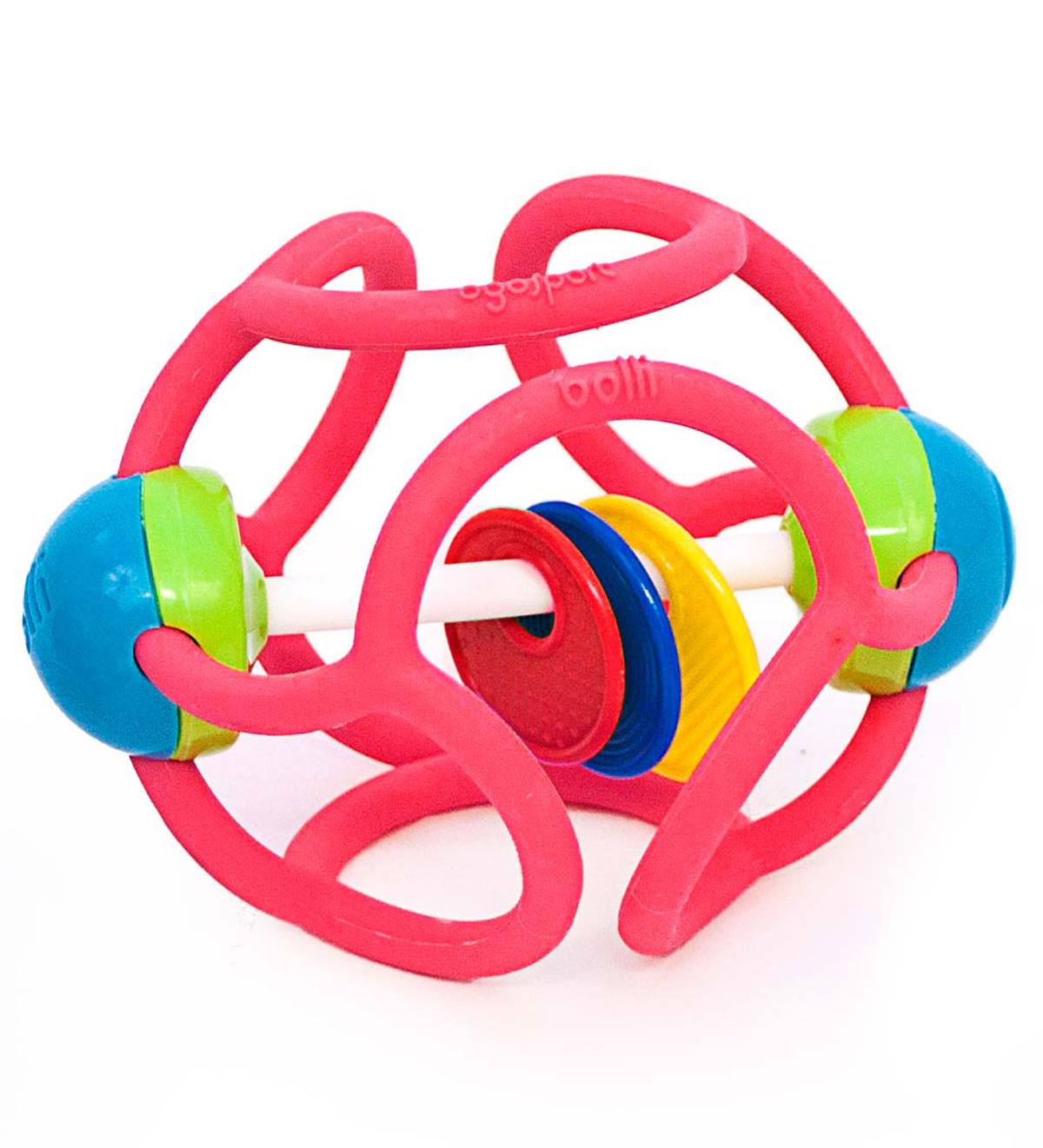 Bollie Squishy Rattle Ball - Pink