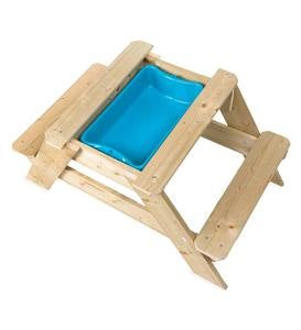 Wooden Picnic Table and Sandpit