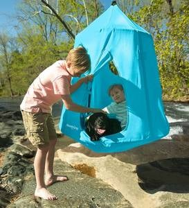 Go! HangOut HugglePod Hanging Tent with LED Lights - Sky Blue