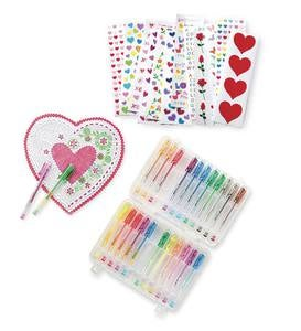 Crafty Creations™ Traditional Valentines Kit and Gel Pen Special