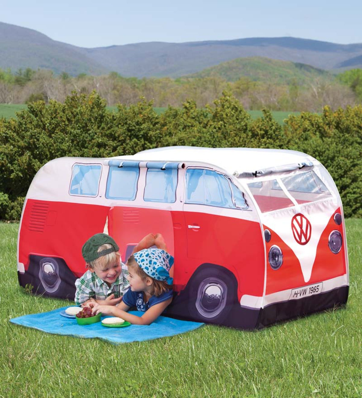 Kids' Pop-Up VW Camper Van Tent - Red