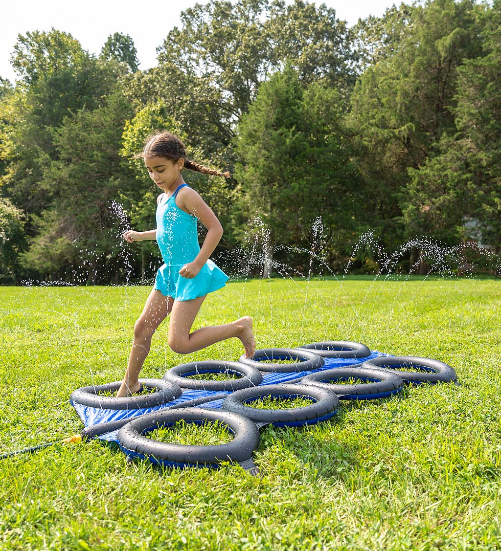 Inflatable Tire Run with Sprinkler
