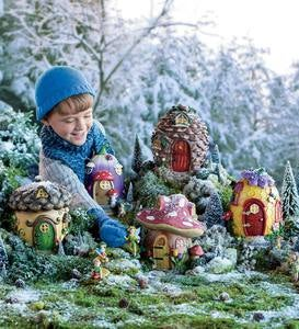 Fairy Village Special - 5 Fairy Houses and 10 Natured-Themed Fairies Set
