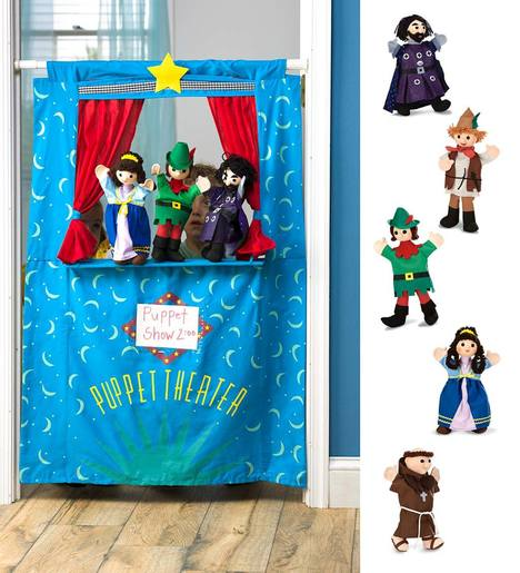 Set of 5 Costumed Puppets plus Doorway Theater Special
