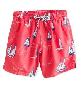 Sailboats Swim Trunks