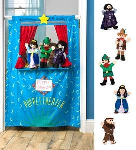 Set of Five Costumed Puppets plus Doorway Theater Special