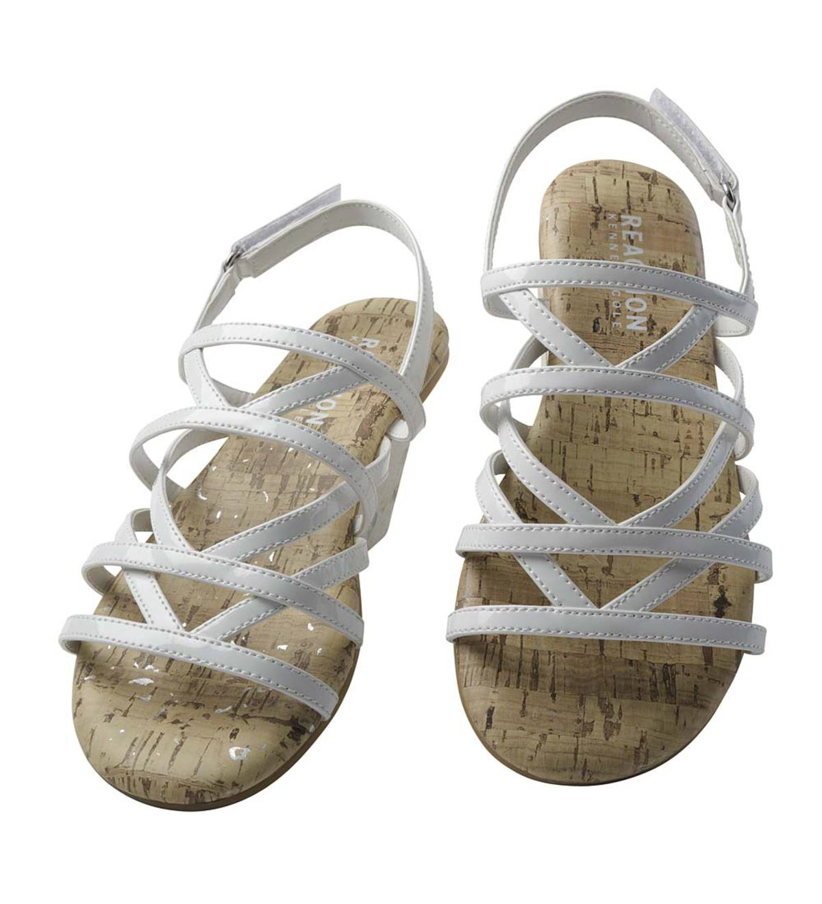 Patent Leather Sandal - White - Size 10