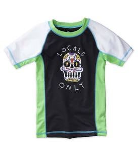 Locals Only Sugar Skull Raglan Rash Guard