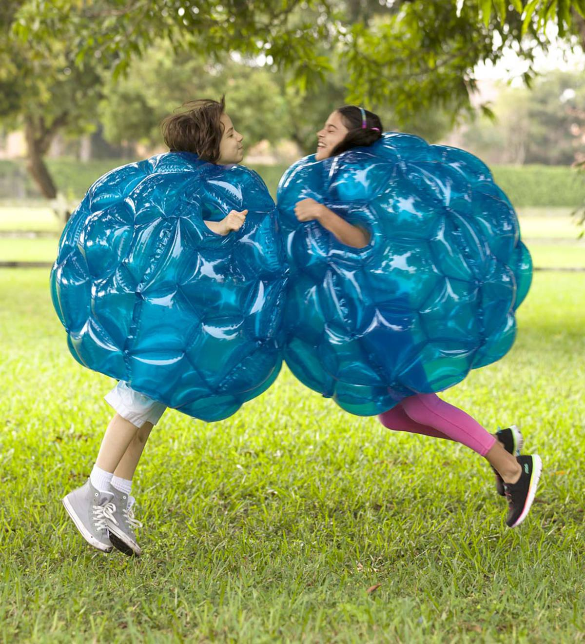 Set of Two Blue Buddy Bumper Balls