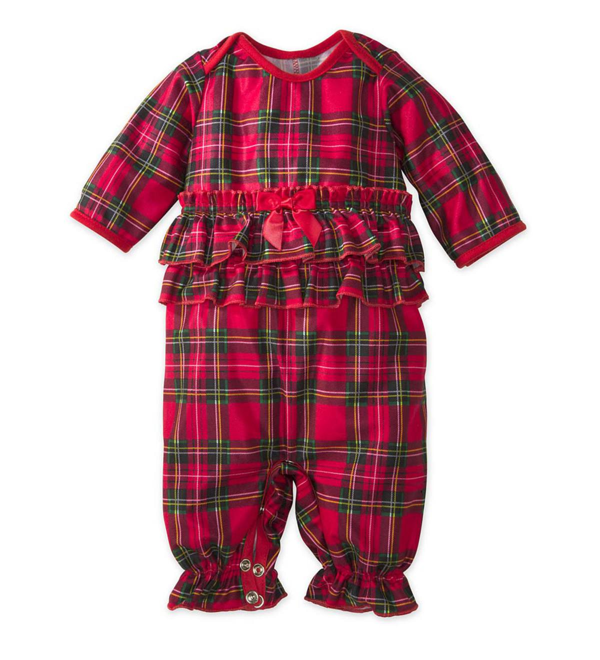 Plaid Onesie - Red - 9M