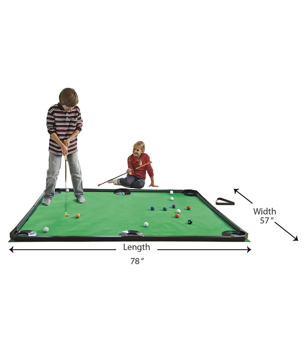 Golf Pool Indoor Family Game and Wooden Accessories Set
