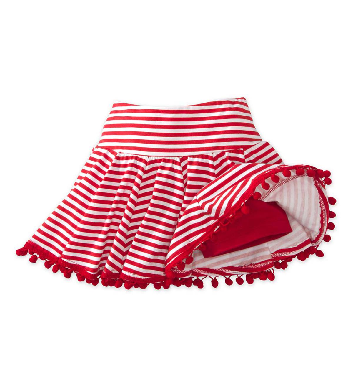 Stripe Skort - Red - 4