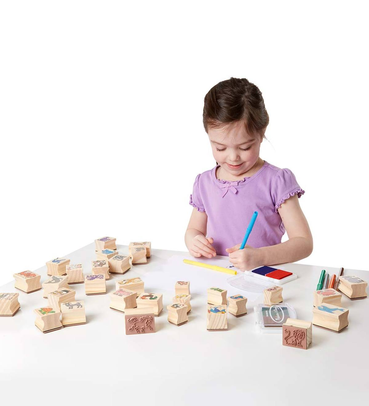 Deluxe Wooden Stamp Set (Animals)