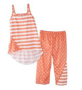 Polka Dots and Stripes Capri Pajamas - MLT - 12
