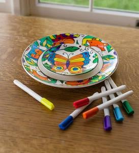 Color Pops® Color-Your-Own Plates - Woodland
