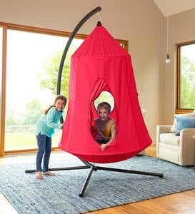 HugglePod HangOut Special, Includes HugglePod Hanging Chair and Mighty Crescent Stand