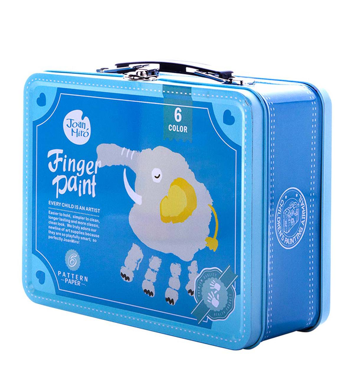 Portable Finger Paint Kit - Blue Case