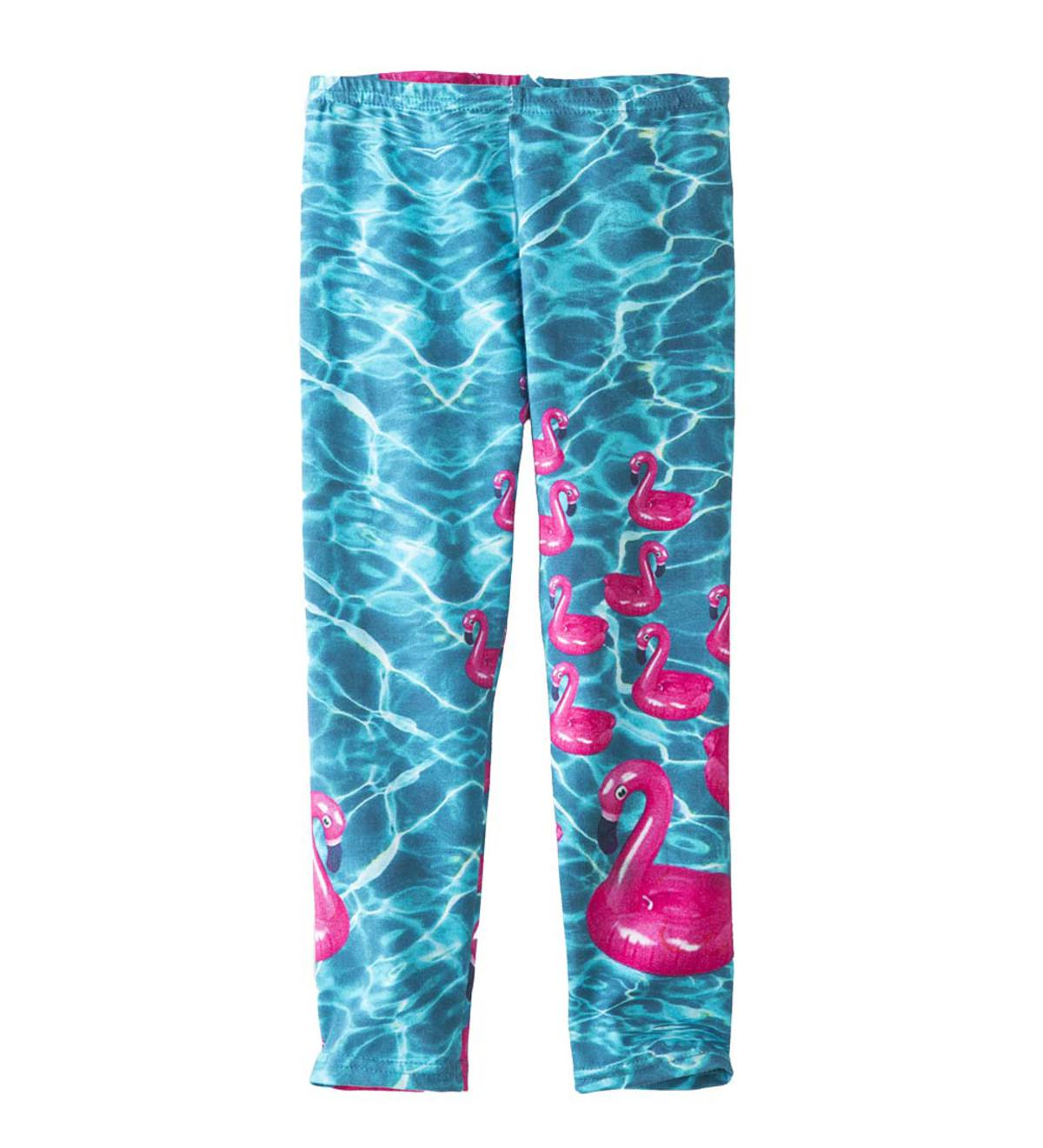 Photo-Real Flamingo Capri Leggings - MLT - 14