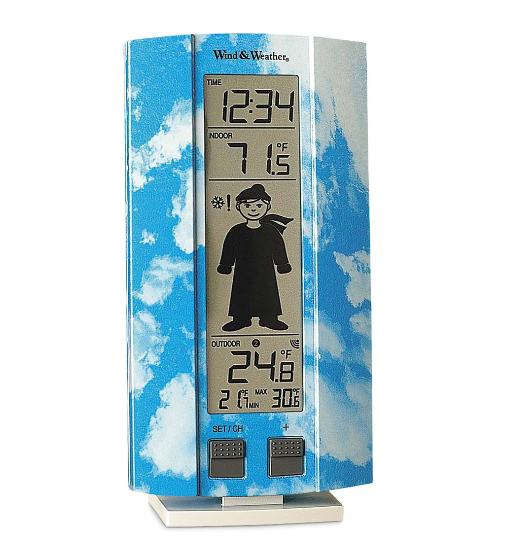 Easy to Read Digital My First Weather Station with Indoor and Outdoor Temperature