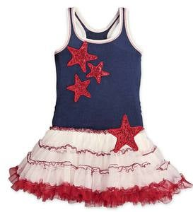 Sleeveless Tutu Dress with Sequin Stars - MLT - 8