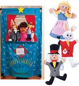 Three Puppets plus Doorway Puppet Theater Special - Rapunzel