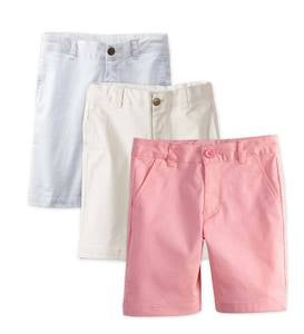 Flat Front Chino Shorts - Pink - 2T
