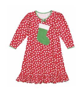 Stocking Gown - Red Polka Dot - 6