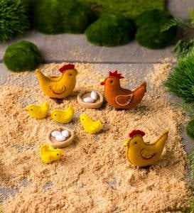Felt Chickens Playset