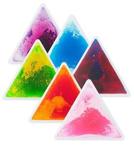 Captivating Color Liquid Tile Triangles (set of 6)