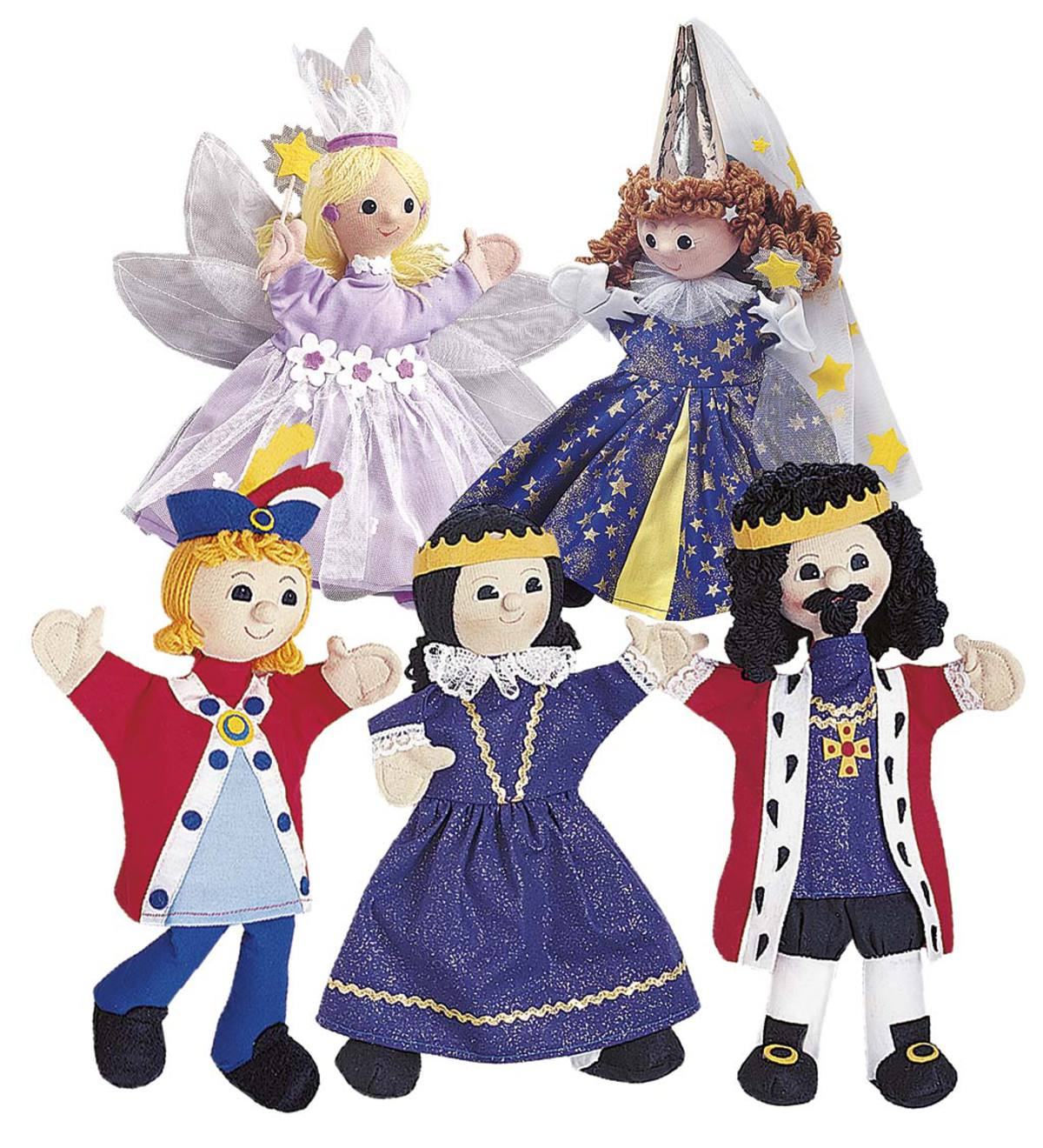 Set of Five Handmade Puppets
