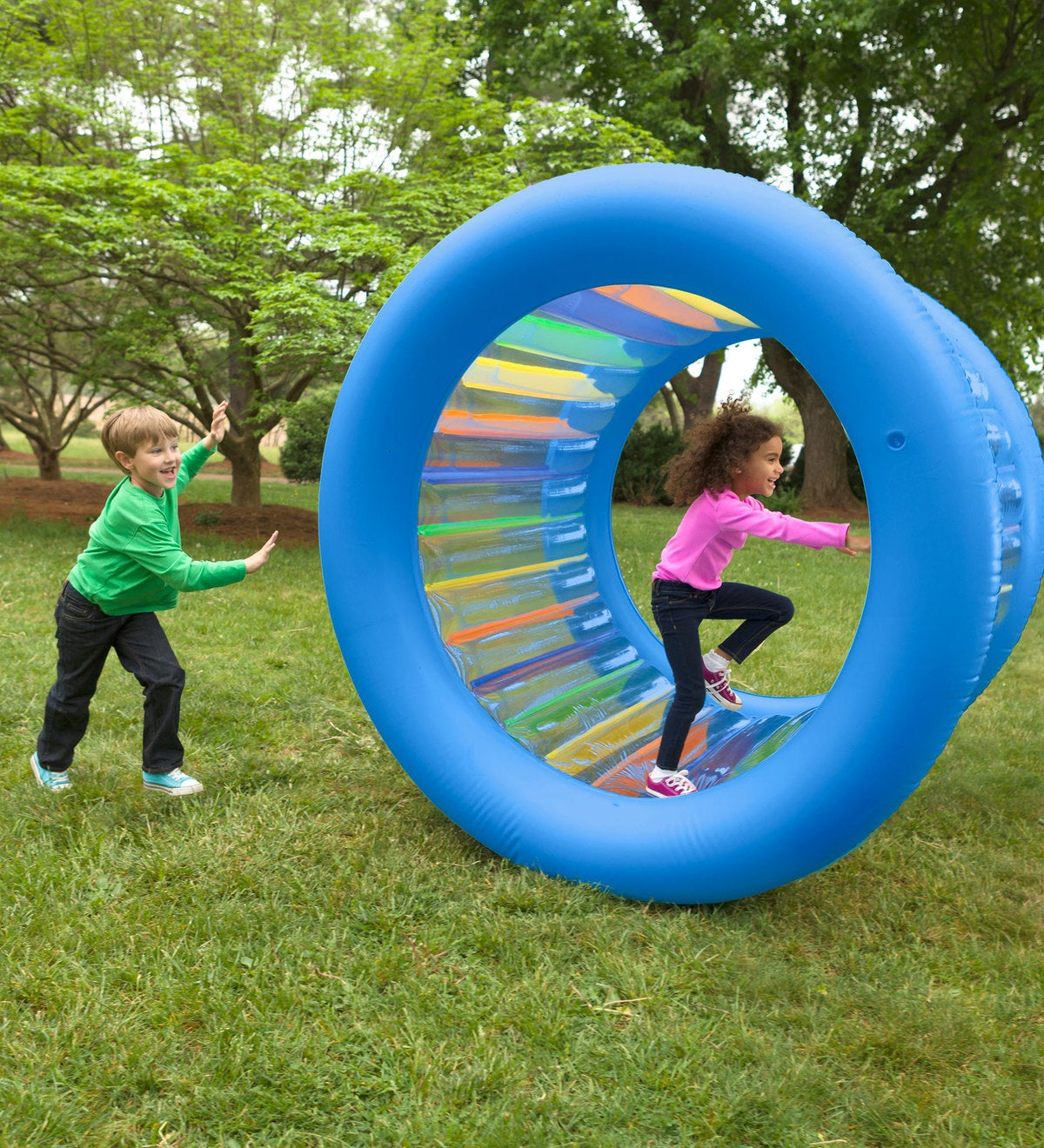 Roll With It! Giant Inflatable Colorful Rolling Wheel | 12 ...