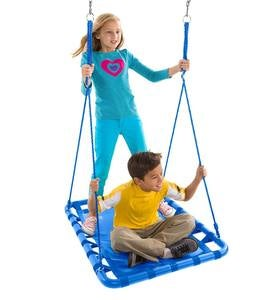 Mega Mat Rectangular Platform Tree Swing With Thick, Webbed Matting and Steel Frame