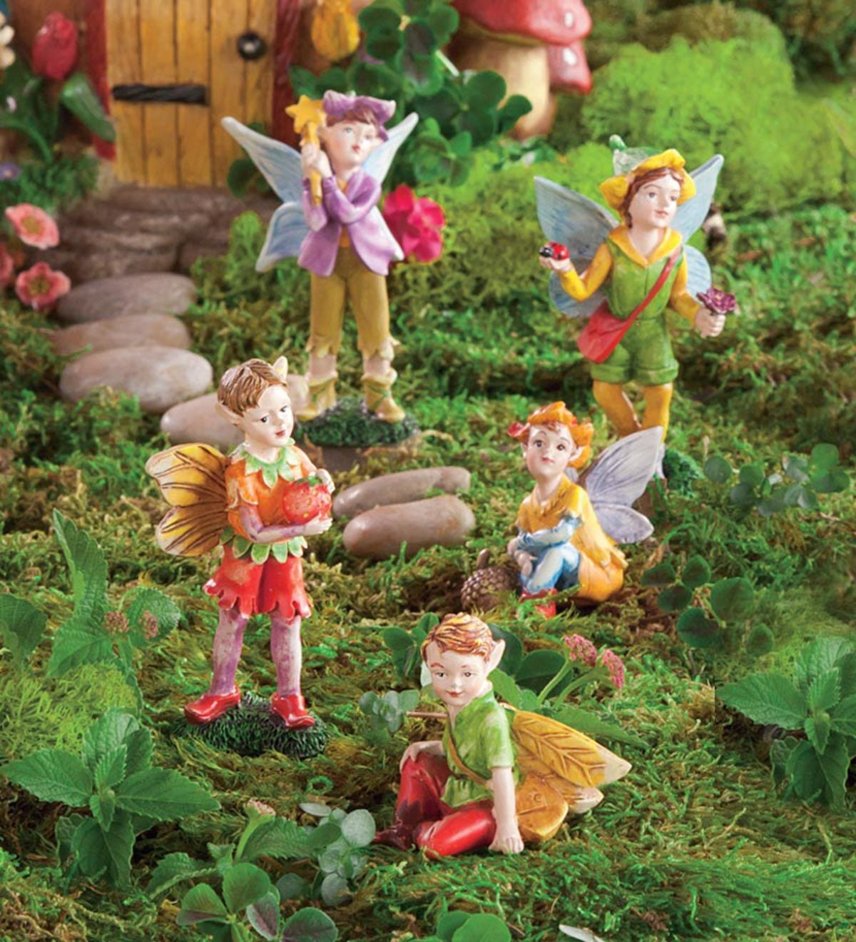 Set of 5 Nature-Themed Fairies - Boy   HearthSong
