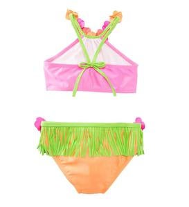 Flowers and Fringe Hula Bikini - MLT - 5