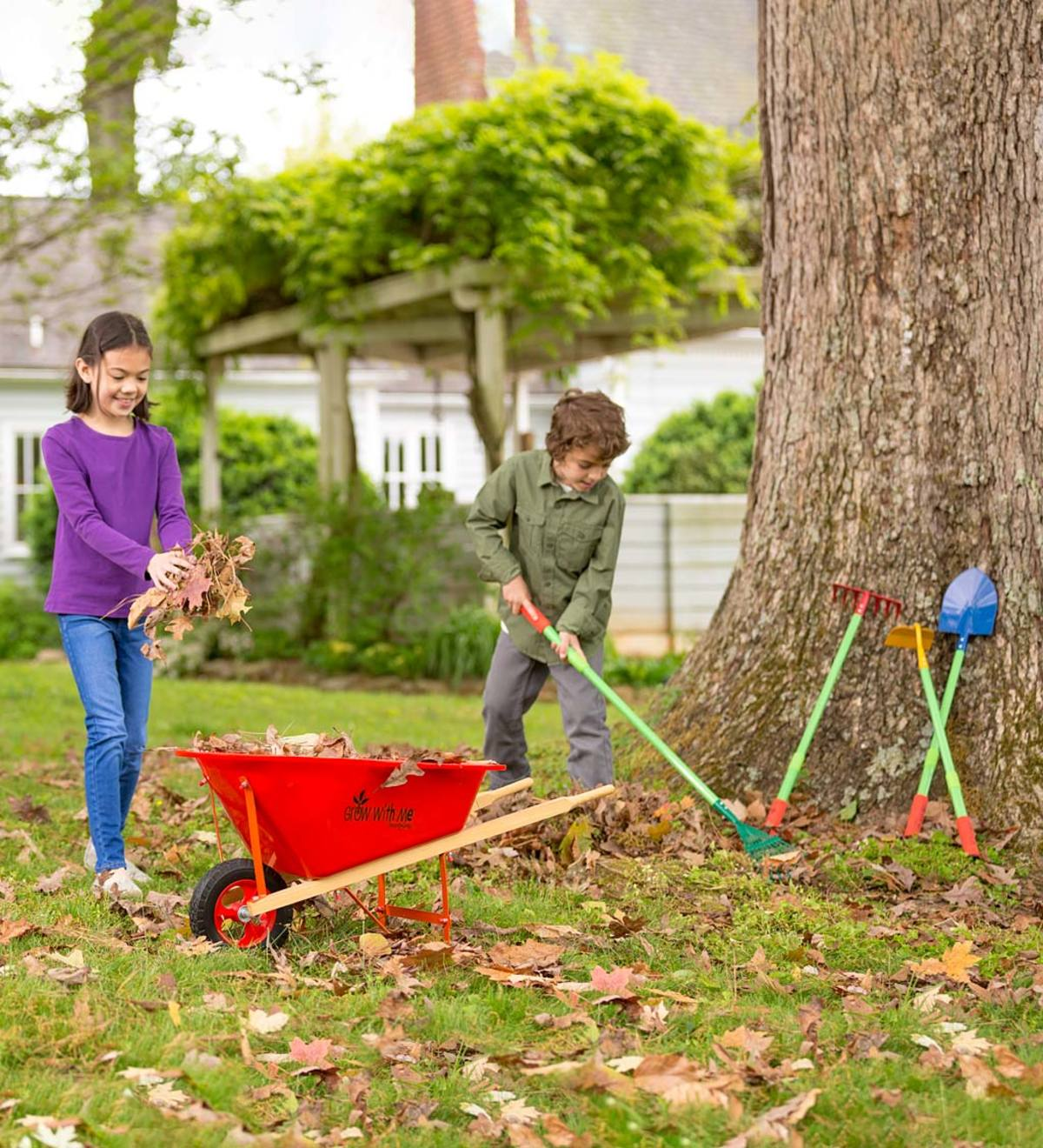 Grow With Me™ Garden Tool Set and Child's Wheelbarrow Special